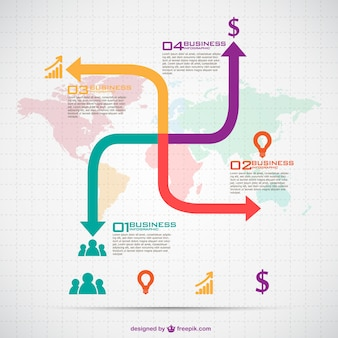 Colorful arrows infographic