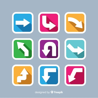 Colorful arrows pack