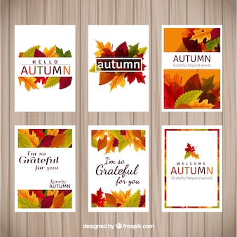 Colorful autumn cards