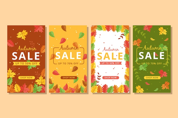 Colorful autumn sale banner