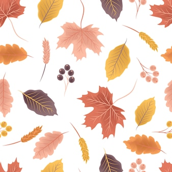 Colorful autumn seamless pattern