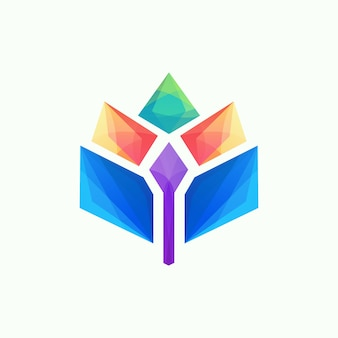 Colorful awesome abstract logo