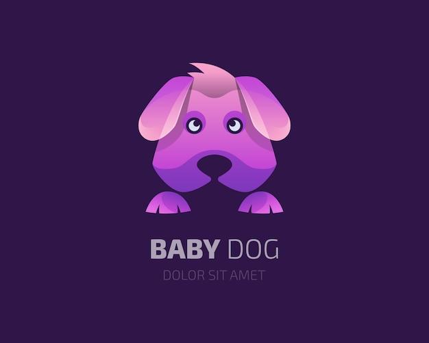 Красочный логотип собаки младенца