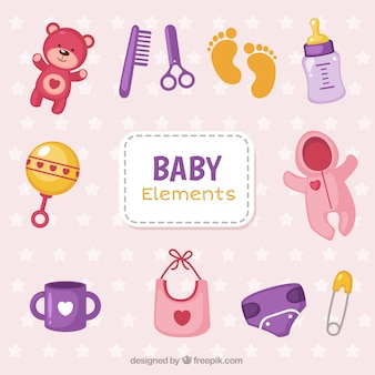 Colorful baby objects pack