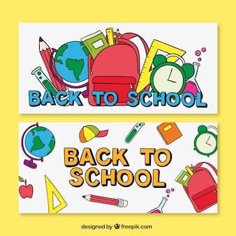 Torna colorful agli striscioni delle scuole