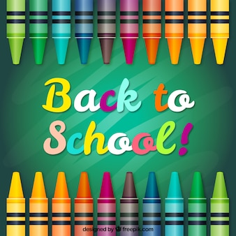 Crayon vectors photos and psd files free download colorful back to school background voltagebd Images