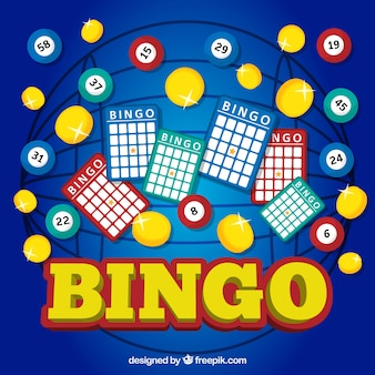 Colorful background of bingo