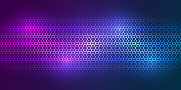 Colorful background. bright color carbon fiber texture. hexagon metal texture steel background.