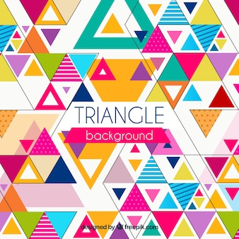 Colorful background in triangular style