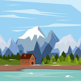 Colorful background of natural landscape