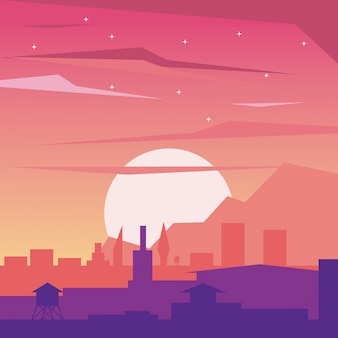 태양시의 새벽 풍경의 화려한 배경
