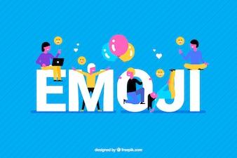 Colorful background of emoji