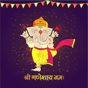 Colorful background of ganesha