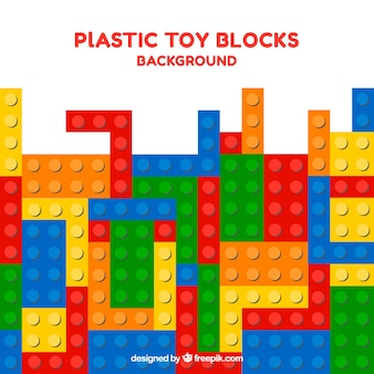 Colorful background of plastic parts