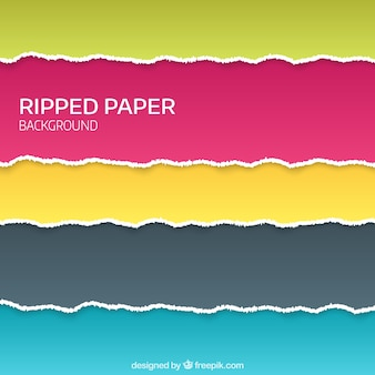 Colorful background of ripped paper