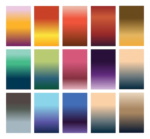 Colorful background set