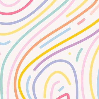 Красочный фон вектор в милые пастельные линии образца
