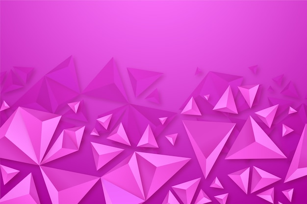 Colorful background with 3d triangles