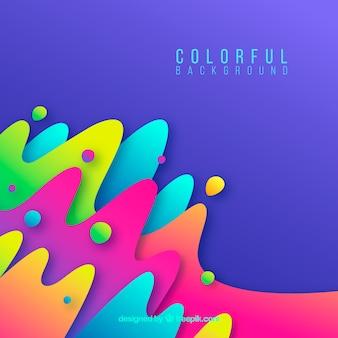 Красочный фон с абстрактными фигурами