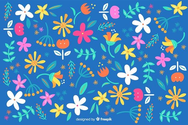 아름 다운 꽃과 꽃 디자인으로 화려한 배경