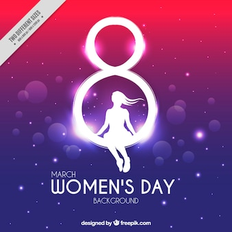 Colorful background with bokeh effect for women's day