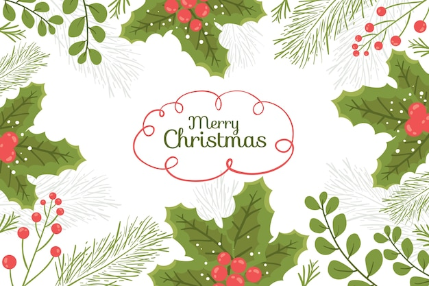 Colorful background with christmas elements