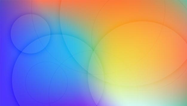 円形の線でカラフルな背景