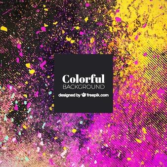 Sfondo colorato con macchie colorate
