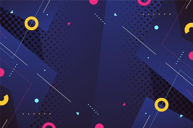 Красочный фон с различными абстрактными формами