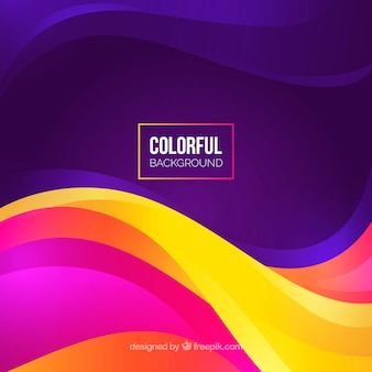 Colorful background with different waves