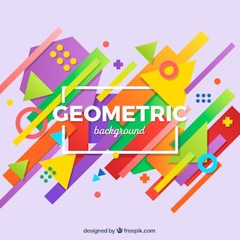 Красочный фон с геометрическими фигурами