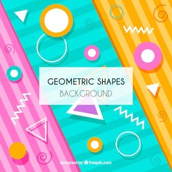 幾何学的な形のカラフルな背景