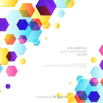Colorful background with geometric shapes