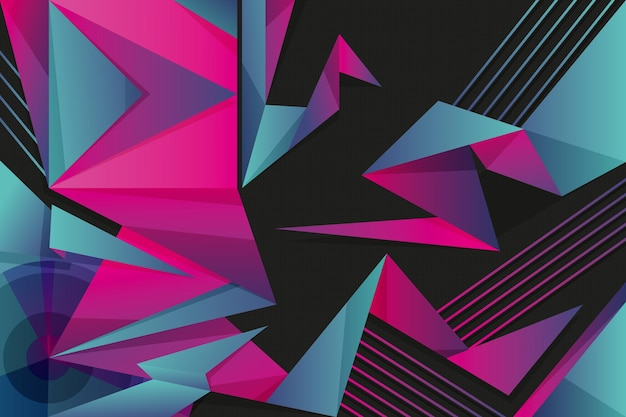 Colorful background with geometrical shapes