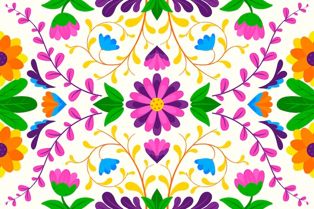 Colorful background with mexican theme