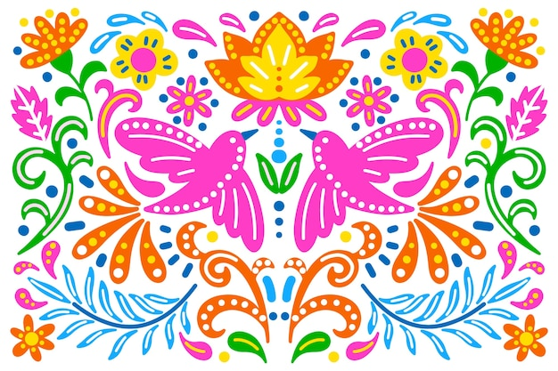 Colorful background with mexican