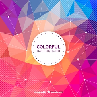 Colorful background with polygonal shapes