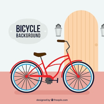 Colorful background with retro bike