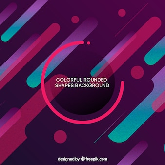 Colorful background with rounded shapes