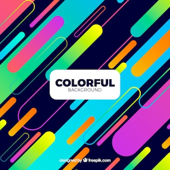 Colorful background with shapes
