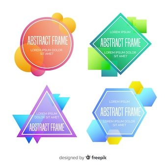 Colorful badges templates