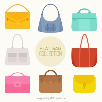 Colorful bag collection
