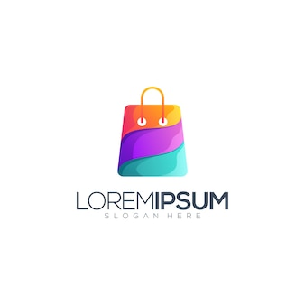 Colorful bag logo template