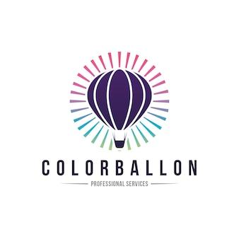 Красочный баллон креативный логотип