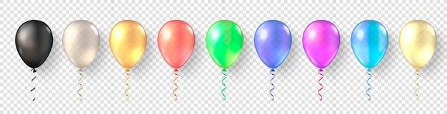 Colorful balloon set concept