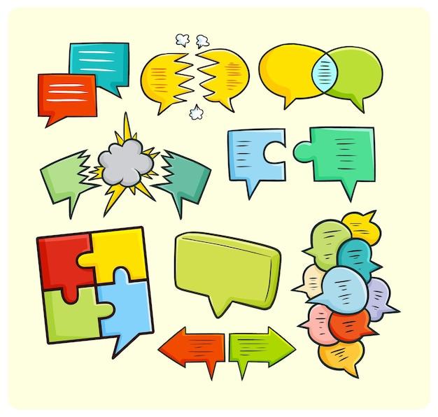 Красочные воздушные шары тексты коммуникационных концепций в простом стиле каракули