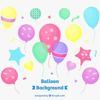 Sfondo di palloncini colorati per festeggiare