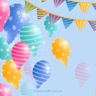 Colorful balloons background to celebrate