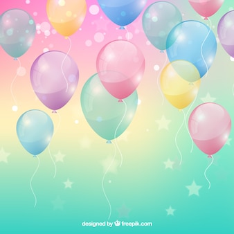 Colorful balloons background in realistic style