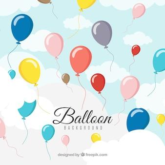 Sfondo di palloncini colorati nel cielo